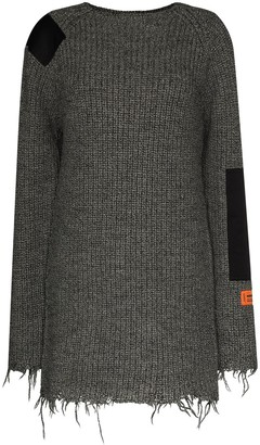 Heron Preston Patch Detail Knitted Dress