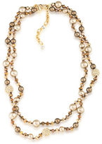 Carolee Two Row Pearl and Bead Necklace