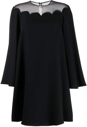 Valentino sheer panel short dress