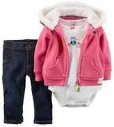 Carter's Baby Girls' Heart 3-Piece Jacket Set
