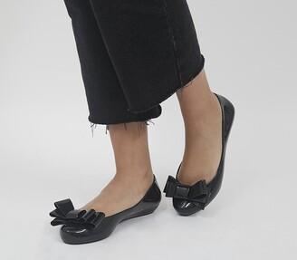 Zaxy Pop Glamour Bow Pumps Black