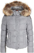 Parajumpers Virgin Wool Down Jacket with Fur-Trimmed Hood