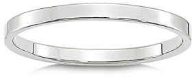 Bloomingdale's Men's 2mm Lightweight Flat Band in 14K White Gold or Yellow Gold - 100% Exclusive