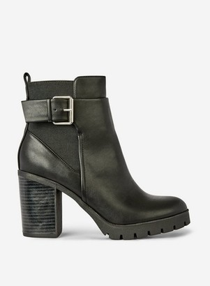 Dorothy Perkins Womens Black 'Ally' Cleated Sole Boots, Black