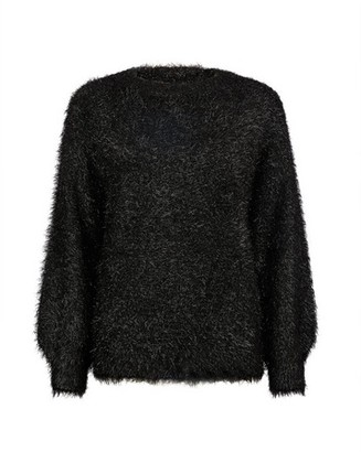 Dorothy Perkins Womens Black Eyelash Tinsel Jumper, Black