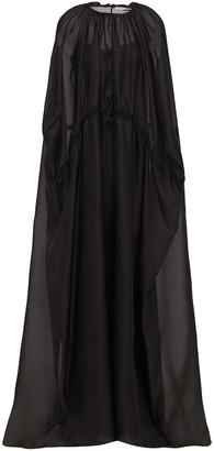 The Row Gathered Silk-organza Maxi Dress