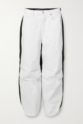 Alexander Wang Pack Mix Paneled Denim And Shell Pants - White