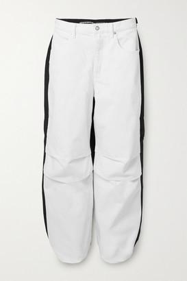 Alexander Wang Pack Mix Paneled Denim And Shell Pants