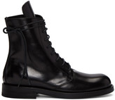 Ann Demeulemeester Black Leather Lace-Up Boots