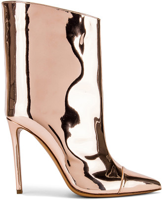 Alexandre Vauthier Alex Low Boot in Rose Gold | FWRD