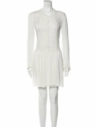 Etoile Isabel Marant V-Neck Mini Dress White