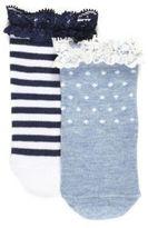 River Island Mini girls blue stripe socks multipack