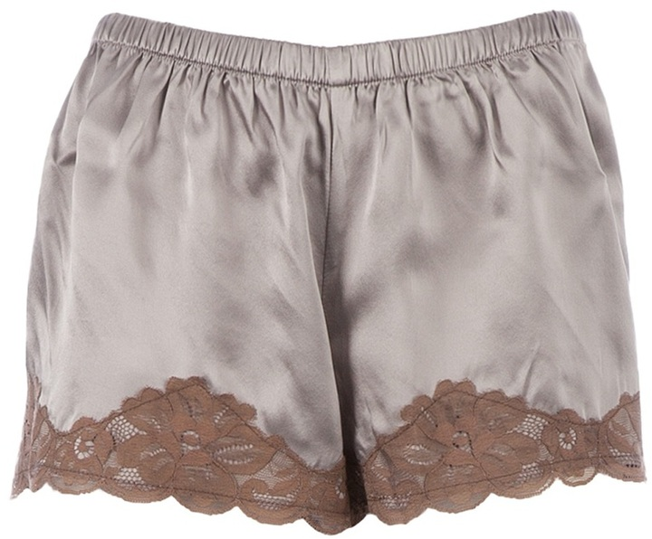 Gold Hawk lace shorts