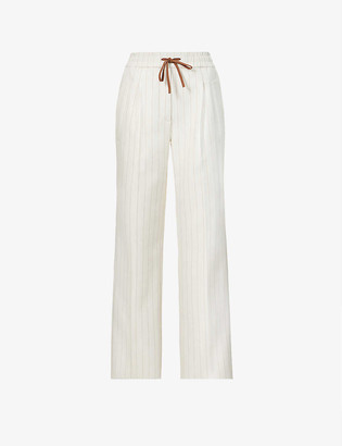 3.1 Phillip Lim Striped tapered mid-rise stretch-woven trousers