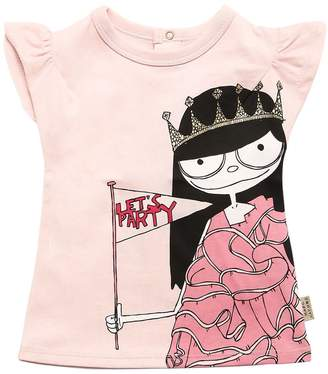 Little Marc Jacobs Printed Cotton Jersey T-Shirt