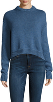 Tibi Women's Melange Open Knit Crewneck Sweater