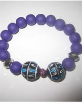 Jewels by Dunn Indo Neon Bracelet in Purple