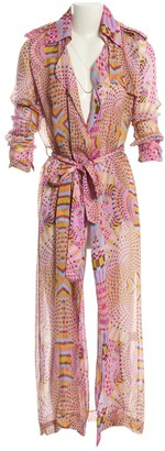 Michel Klein Pink Silk Dresses