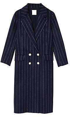 Sandro Women's Thiny Wool-Blend Pinstripe Coat