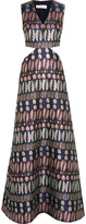 Tory Burch Cutout jacquard gown