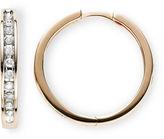 JCPenney FINE JEWELRY 1/3 CT. T.W. Diamond 10K Rose Gold Hoop Earrings