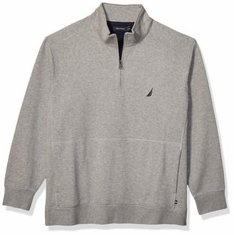 Nautica Men's Tall Quarter-Zip Fleece Pullover