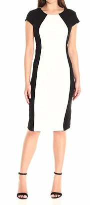 Ronni Nicole Women's Cap Sleeve Color Block Midi
