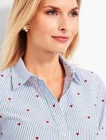 Talbots The Classic Casual Shirt - Hearts & Stripes