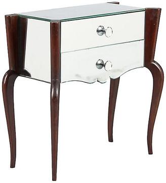 One Kings Lane Vintage Midcentury Venetian Mirrored Chest - Negrel Antiques - Mirror/brown