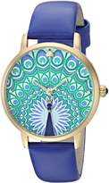 Kate Spade Women's 'Metro' Quartz Stainless Steel and Leather Casual Watch, Color:Blue (Model: KSW1285)