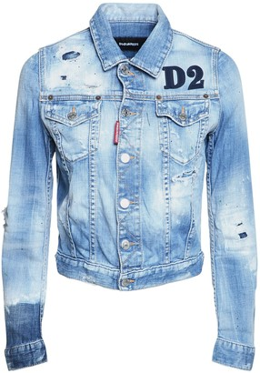 DSQUARED2 D2 Classic Jean Stretch Denim Jacket