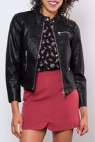 Vero Moda Faux Leather Racer Jacket