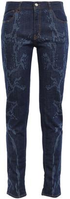 Just Cavalli Snake-print Mid-rise Slim-leg Jeans