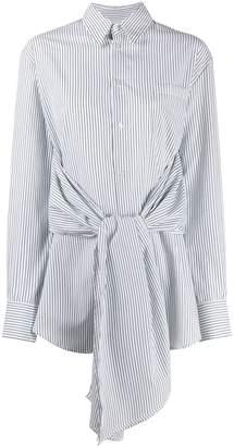 MM6 MAISON MARGIELA tied waist striped shirt