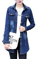 Splendid-Dream jean jacket Splendid-Dream Women's Ripped Destroyed Long Denim Jacket Outwear (S)