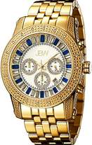 "JBW Men's JB-6219-G ""Krypton"" Gold Blue Chronograph Diamond Watch"