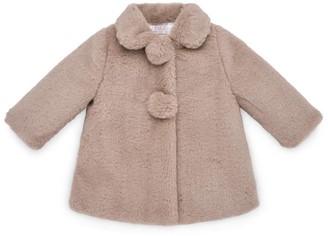 Paz Rodriguez Luna Faux Fur Coat (3-24 Months)