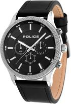 Police BLACK LEATHER WATCH WITH BLACK DIAL