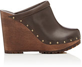 See by Chloe WOMEN'S LEATHER PLATFORM-WEDGE CLOGS