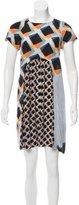 Suno Geometric Print Mini Dress