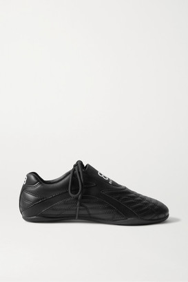Balenciaga Zen Quilted Faux Leather Sneakers - Black