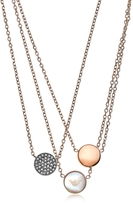 Emporio Armani Signature Rose Goldtone Necklace w/Triple Charms