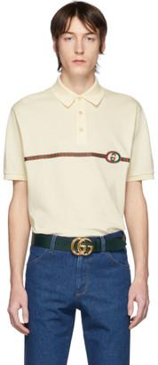 Gucci Off-White Pique GG Polo