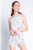 Thumbnail for your product : PJ Salvage Peachy Party Leopard Tank, Oatmeal Small