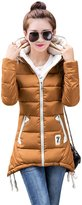 YMING Womens Down Alternative Winter Warm Jacket M