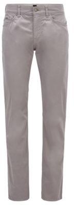 HUGO BOSS Slim-fit jeans in satin-stretch denim with monogram lining