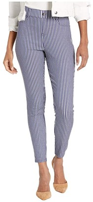 Hue Striped Ultra Soft Denim High-Waist Leggings (Indigo Stripe) Women's Jeans
