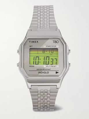 Timex T80 34mm Stainless Steel Digital Watch