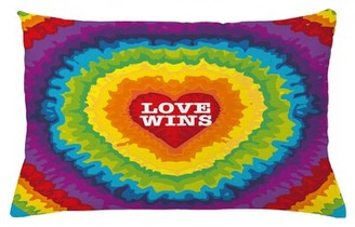 "East Urban Home Pride Indoor / Outdoor Lumbar Pillow Cover Size: 16"" x 26"""