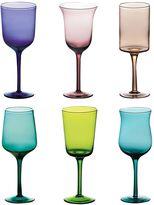Bitossi Home Set Of 6 Multicolor Wine Glasses